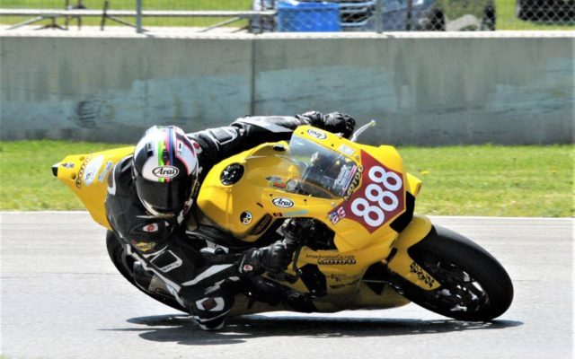 #888 Max Flinders (YAMAHA YZF-R1) in turn 3 at Road America on Friday.  [Dave Jensen Photo]