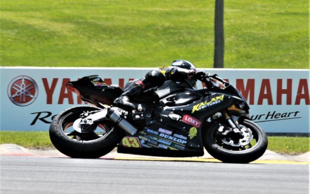 #55 Michael Gilbert (YAMAHA YZF-R6) in turn 5 at Road America on Friday.  [Dave Jensen Photo]