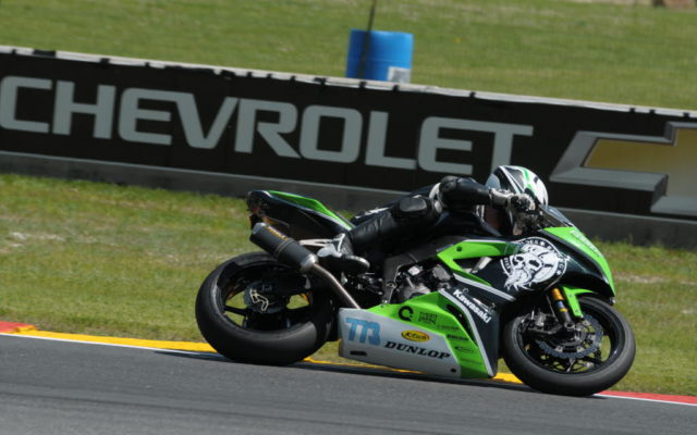 #773 Mark Rhoades (KAWASAKI ZX-R6) in turn 5 at Road America on Friday.  [Dave Jensen Photo]