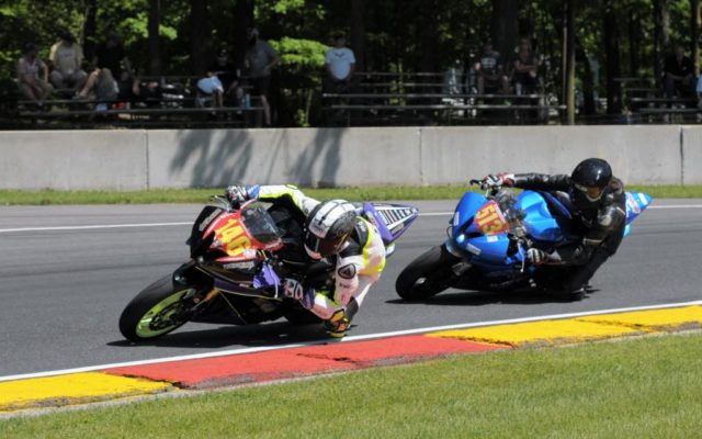 #146 Gauge Rees (YAMAHA) and #513 Robert Pierce (YAMAHA) in turn 6 at Road America.  [Dave Jensen Photo]