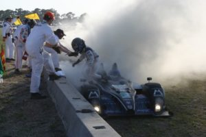 Corner workers doing their job at Sebring. [Photo by Jack Webster]