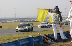 Corner Workers at work at Daytona. [Photo by Jack Webster]
