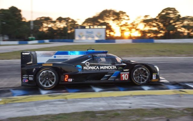 The Wayne Taylor Racing Cadillac on the way to victory at Sebring in 2017.  [Photo by Jack Webster]