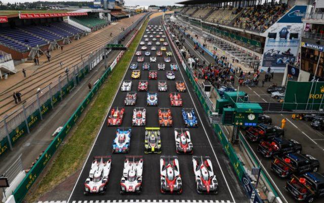 The line up at Le Mans.  [Photo by Porsche Motorsport]