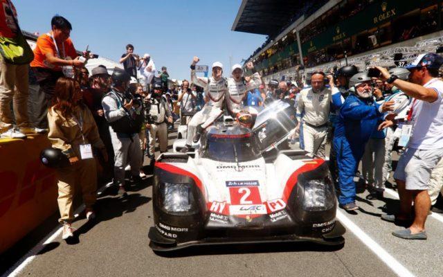 Victory #19 for Porsche at Le Mans.  [Photo by Porsche Motorsport]