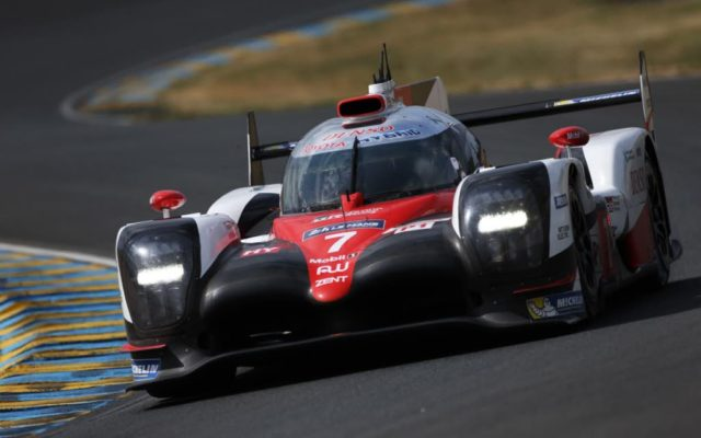 The pole winning Toyota.   [Photo by Toyota Motorsport GmbH]