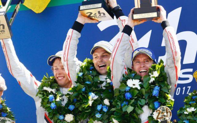 Le Mans victors.  [Photo by Porsche Motorsport]