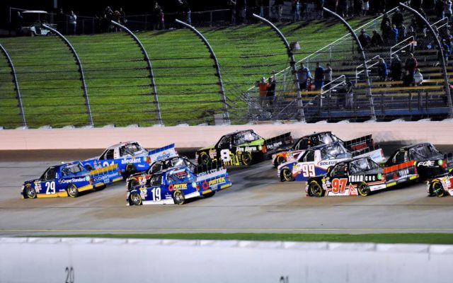 Bunched up restart going into turn one.  [Kim Kemperman Photo]