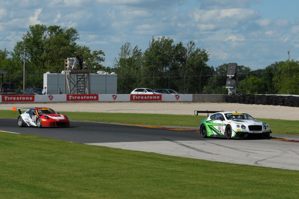 Adderly Fong captured his first Pirelli World Challenge GT Sprint race at the famed Road America as he fought off a late challenge from Patrick Long. [Dave Jensen Photo]