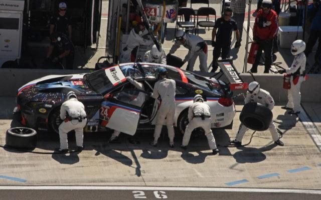 GTLM winning BMW makes first pit stop.  [Joe Jennings Photo]