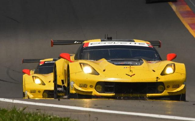 A pair of Corvettes race uphill.  [Joe Jennings Photo]