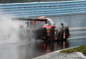 P1 Motorsports Ligier JS P3 in the wet at the Glen.  [Photo by Jack Webster]