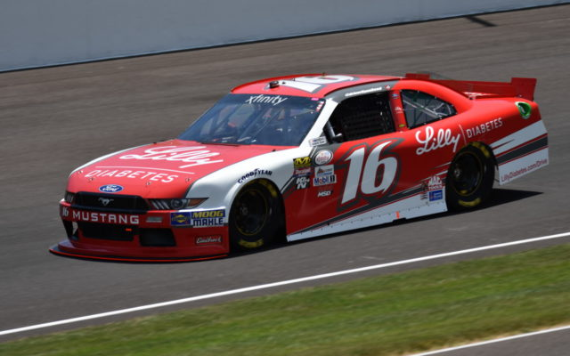 Ryan Reed during opening practice for the Lilly Diabetes 250 at the Indianapolis Motor Speedway.  [John Wiedemann Photo]