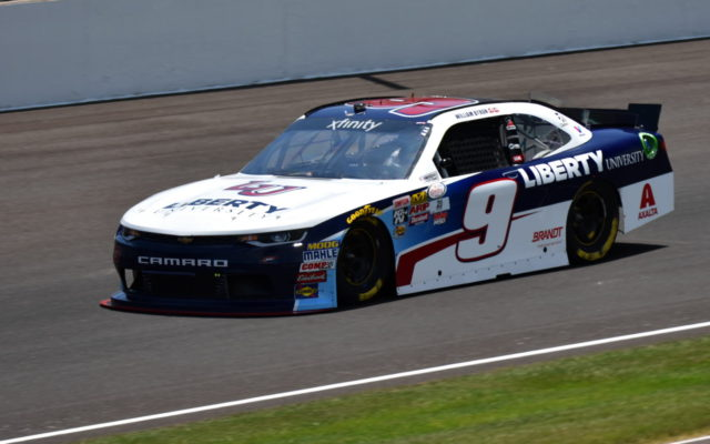 William Byron during opening practice for the Lilly Diabetes 250 at the Indianapolis Motor Speedway.  [John Wiedemann Photo]