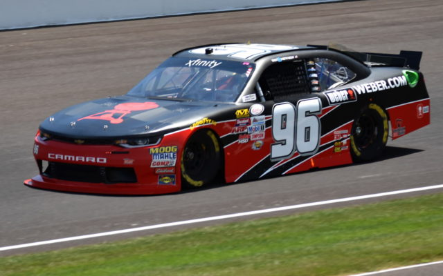 Ben Kennedy during opening practice for the Lilly Diabetes 250 at the Indianapolis Motor Speedway.  [John Wiedemann Photo]