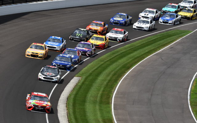 The start of the 24th running of the Brantley Gilbert Big Machine Brickyard 400.  [John Wiedemann Photo]