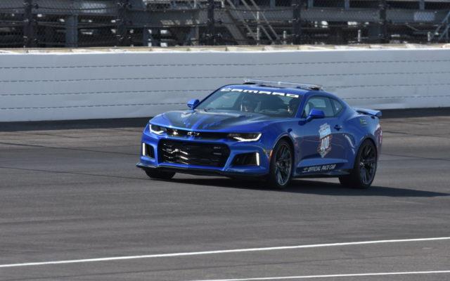 Jeff Gordon driving the pace car at the Brickyard 400.  [John Wiedemann Photo]