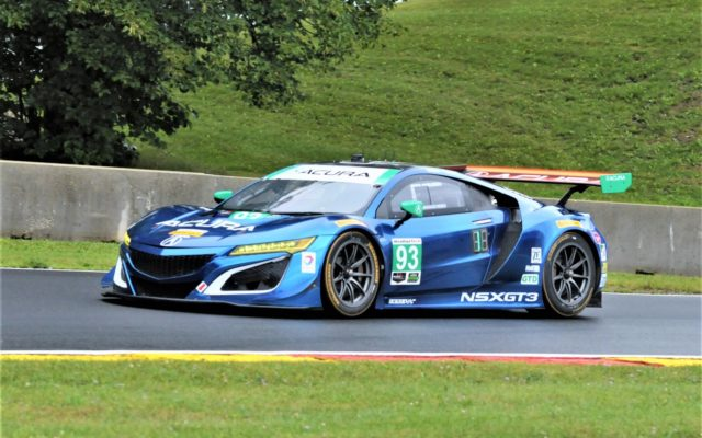 #93 Andy Lally/Katherine Legge (ACURA NSX GT3).  [Dave Jensen Photo]
