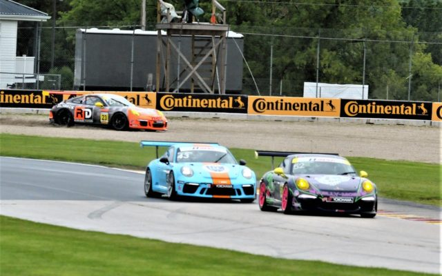 #23 Fred Kaimer (PORSCHE 991) goes into the gravel trap in turn 14.  [Dave Jensen Photo]