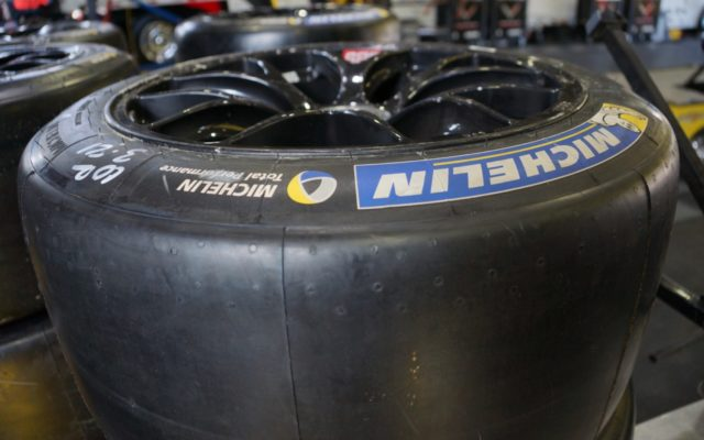 Michelin tire, ready to race.  [Photo by Jack Webster]
