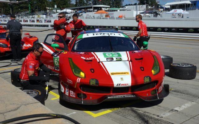 Ferrari on pole in GTD.  [Photo by Jack Webster]
