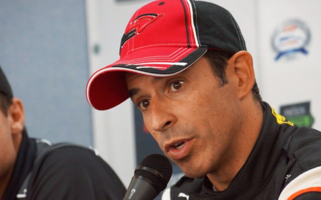 Helio Castroneves.  [Photo by Jack Webster]
