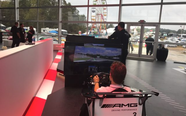 Driving simulator at AMG center.  [Photo by Jack Webster]
