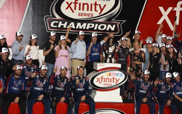 Championship winning JR Motorsports team celebrates.  [Joe Jennings Photo]