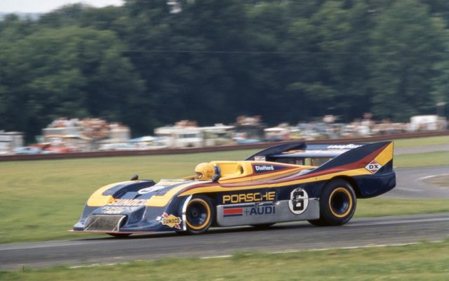 Mark Donohue in the Porsche 917/30.  [Photo by Jack Webster]