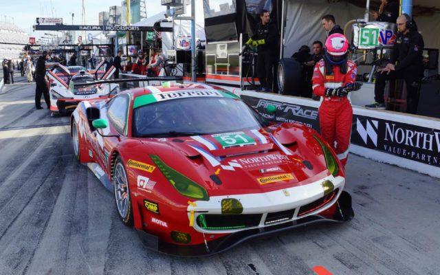Ferrari ready for action.  [Jack Webster Photo]