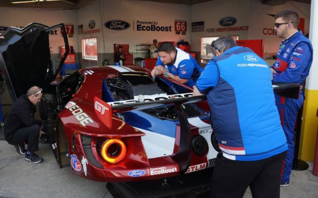 Ford preparations.  [Jack Webster Photo]