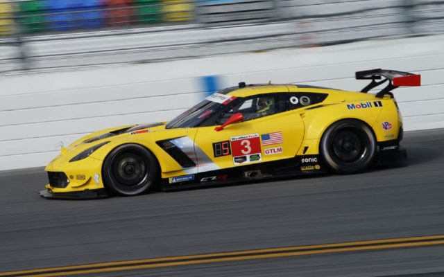 Mike Rockenfeller piloting the Corvette.  [Jack Webster Photo]