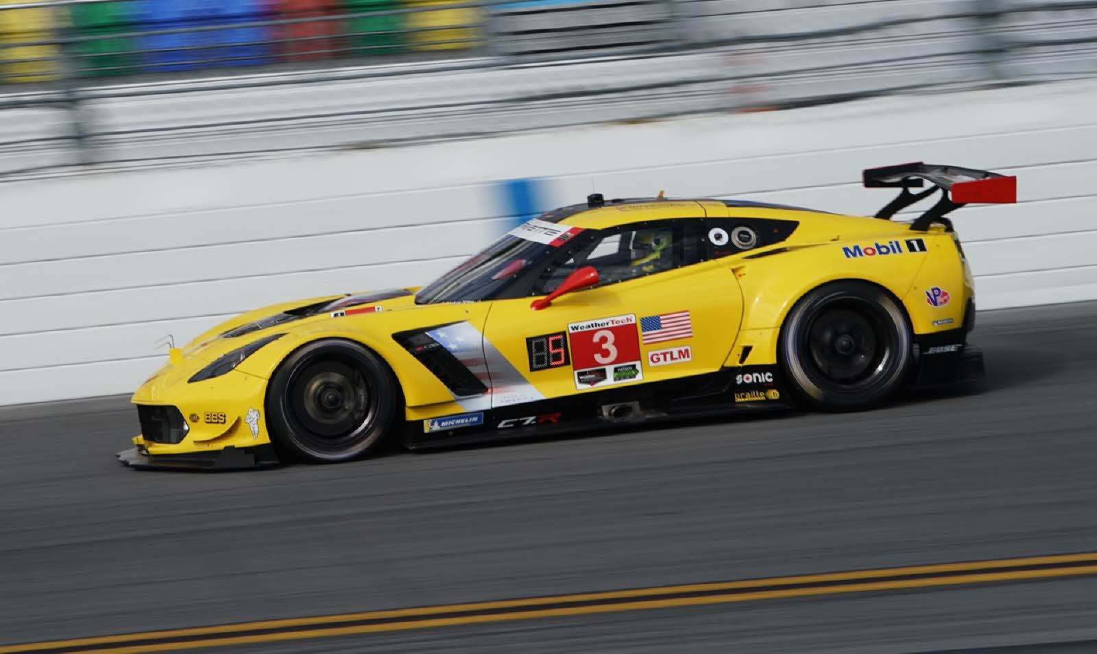 Mike Rockenfeller piloting the Corvette. [Jack Webster Photo]