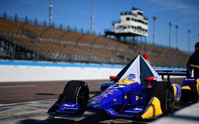 Alexander Rossi's NAPA Indy car waits to hit the track.  [credit Jamie Sheldrick / Spacesuit Media]