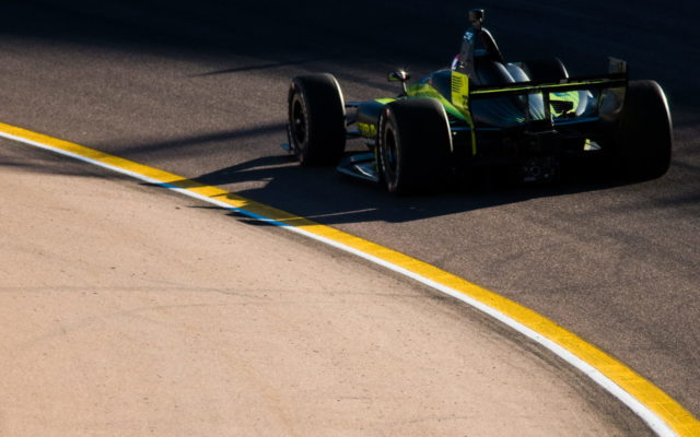 Charlie Kimball on track at ISM Raceway.  [credit Jamie Sheldrick / Spacesuit Media]