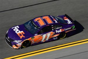 Denny Hamlin will start on the front row after qualifying second for the Monster Energy NASCAR Cup Series Daytona 500.  [Photo by Jared C. Tilton/Getty Images]