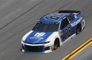 Alex Bowman qualifies on the pole with a time of 46.002 seconds and a speed of 195.644 mph for the Monster Energy NASCAR Cup Series Daytona 500. [Photo by Brian Lawdermilk/Getty Images]