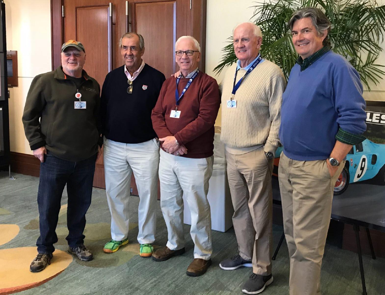 L-R: Burt Levy, David Hobbs, myself, John Fitzpatrick and Bob Varsha. [Photo by Eddie LePine]