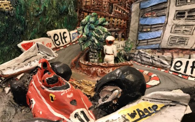 Detailed Monaco Grand Prix scene.  [Photo by Jack Webster]