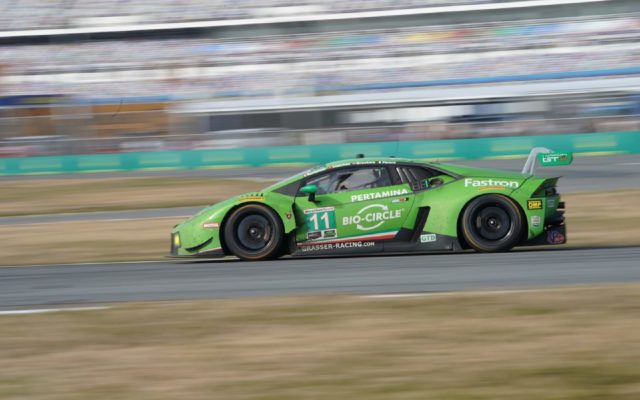 Lamborghini looks for a second endurance win at Sebring.  [Photo by Jack Webster]