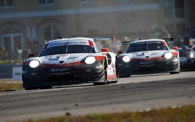 Porsche finished 1st and 3rd in GTLM.  [Photo by Jack Webster]