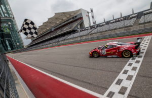 Toni Vilander and Miguel Molina co-driving the No. 61 R. Ferri Motorsport Ferrari 488 GT3 won thePirelli World Challenge GT SprintX at the Circuit of the Americas. [photo courtesy Pirelli World Challenge]