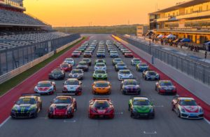 The GTS Class field for the 2017 Pirelli World Challenge Grand Prix of Texas at the Circuit of the Americas. [photo courtesy Pirelli World Challenge]