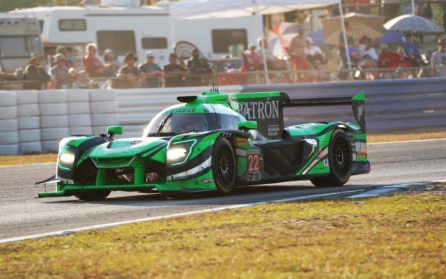 Backlit race winning Nissan at Sebring.  [Photo by Jack Webster]