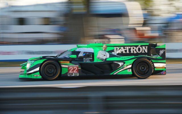 Sebring winning Nissan at speed.  [Photo by Jack Webster]