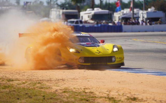 Off road excursion for Corvette at Sebring.  [Photo by Jack Webster]