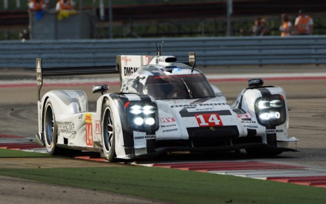Romain Dumas in the Porsche 919 at COTA.  [Photo by Jack Webster]