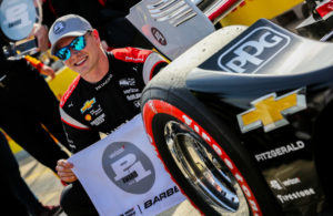 Josef Newgarden takes the pole for the Honda Indy Grand Prix of Alabama at Barber Motorsports Park. © [Andy Clary / Spacesuit Media]