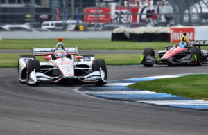 Will Power leads Robert Wickens - INDYCAR Grand Prix, Indianapolis Motor Speedway. [John Wiedemann Photo]