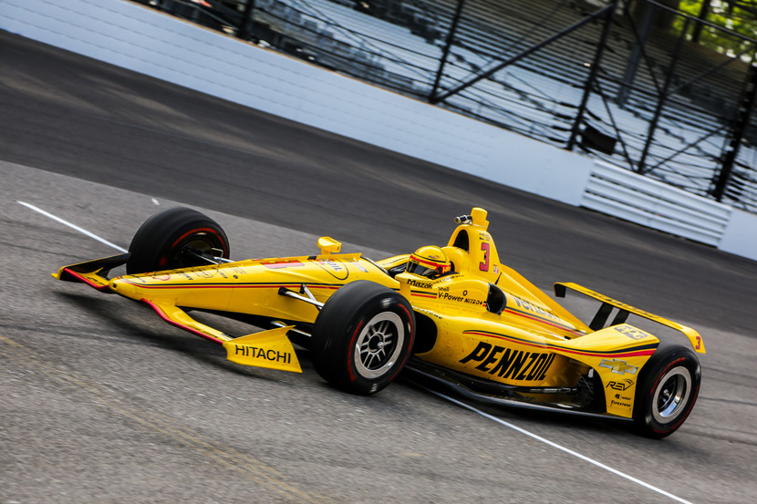 Helio Castroneves was quickest in qualifying for the Indianapolis 500. © [Andy Clary / Spacesuit Media]
